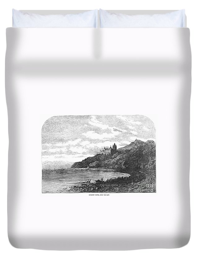 1855 Duvet Cover featuring the photograph Scotland: Dunrobin Castle by Granger