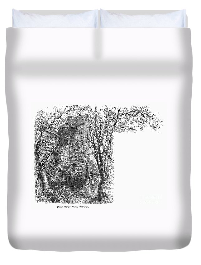 1566 Duvet Cover featuring the photograph Scotland: Jedburgh House by Granger