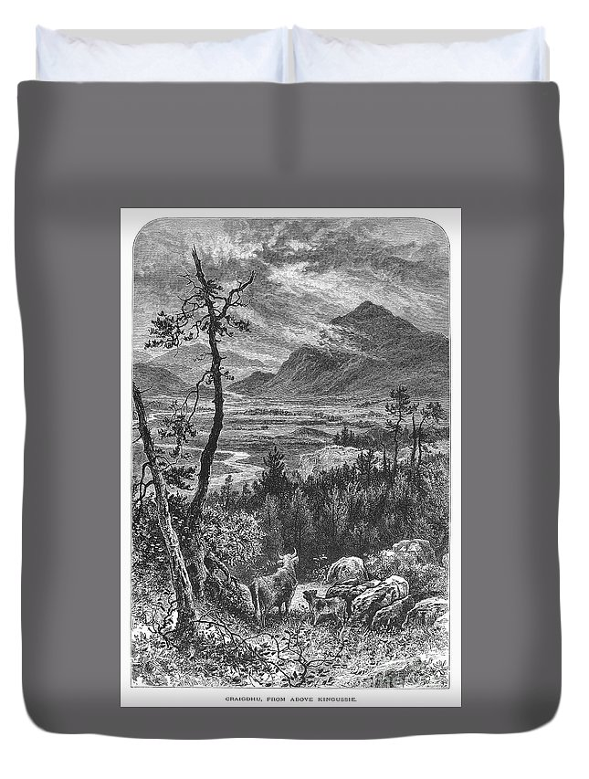 1875 Duvet Cover featuring the photograph Scotland: Spey Valley by Granger