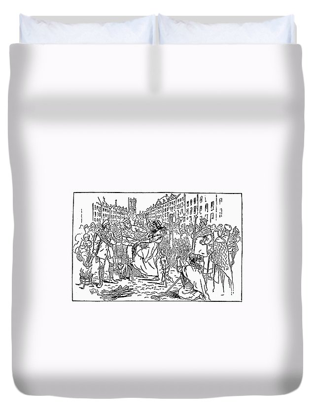 18th Century Duvet Cover featuring the photograph Scotland: Witch Burning by Granger