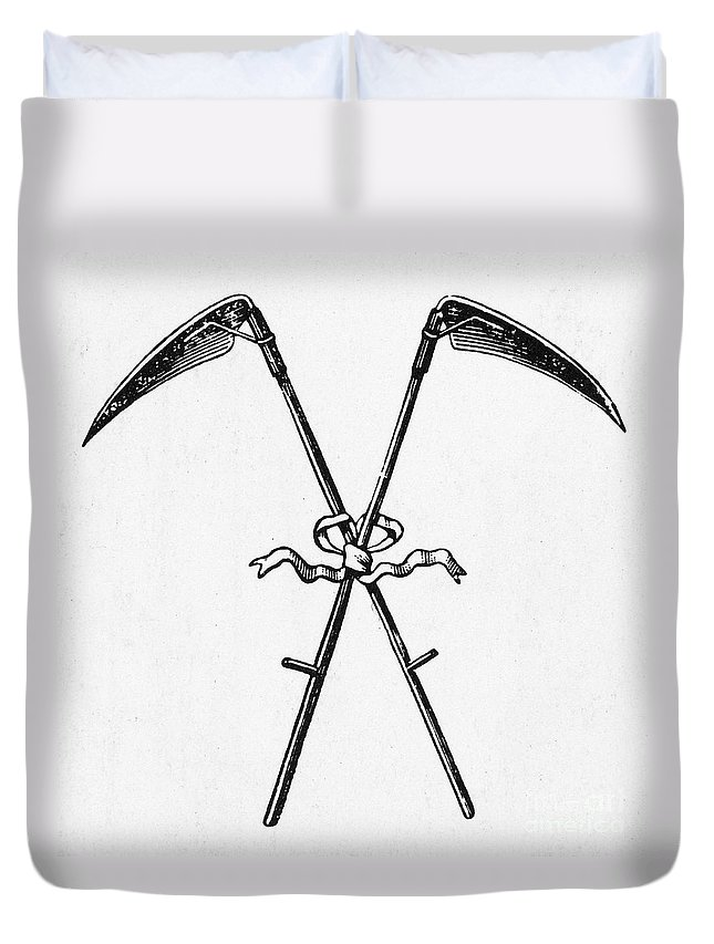 19th Century Duvet Cover featuring the photograph Scythes, 19th Century by Granger
