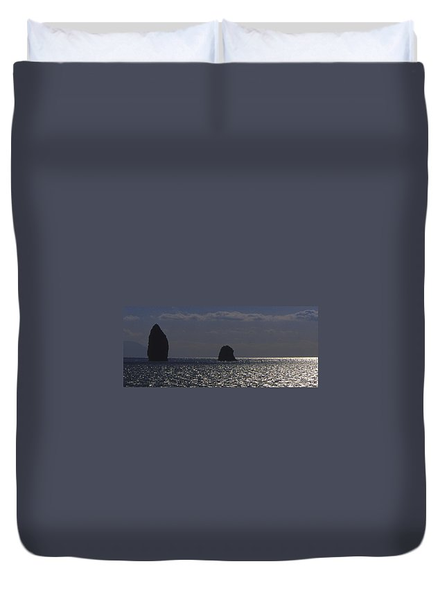 Sea Duvet Cover featuring the photograph Sea Watchers by Michele Mule'