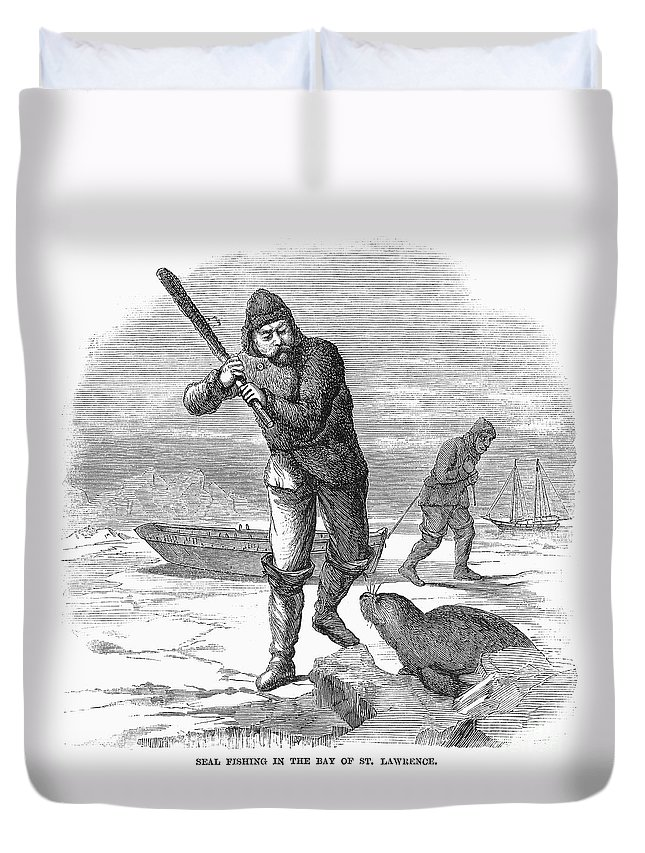 1867 Duvet Cover featuring the photograph Seal Hunting, 1867 by Granger