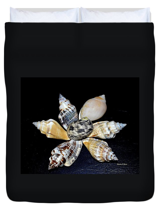 Seashell Duvet Cover featuring the photograph Seashell Floral by Maria Urso