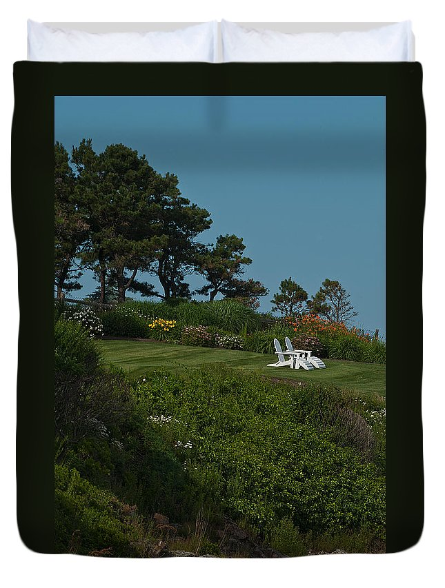 seaside View Duvet Cover featuring the photograph Seaside View by Paul Mangold