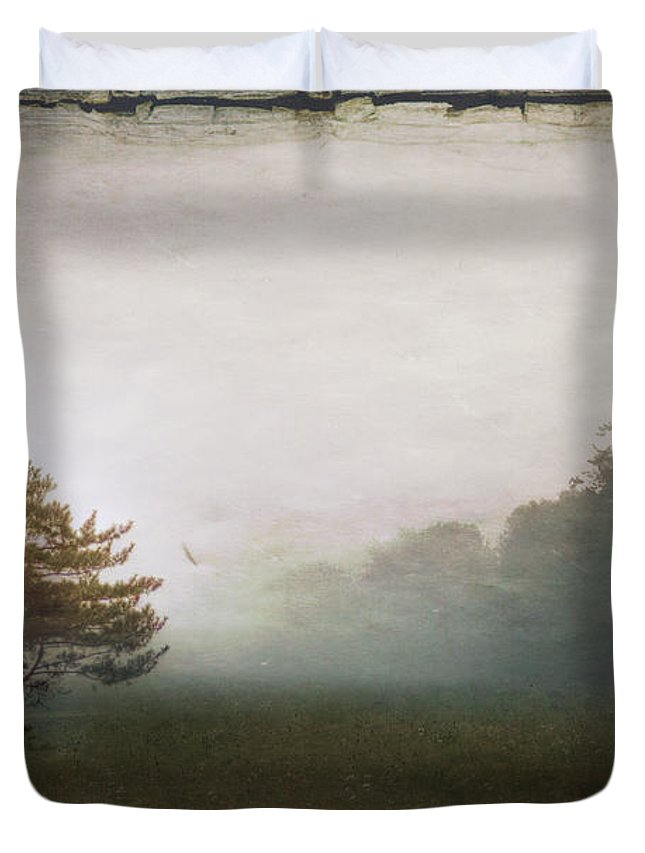 Tree Duvet Cover featuring the photograph Season Of Mists by Evelina Kremsdorf