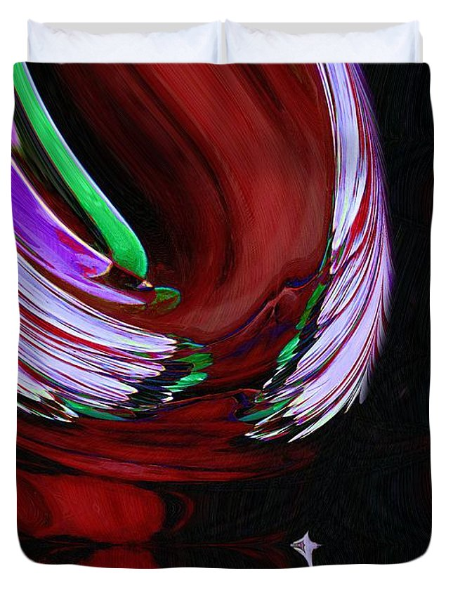 Abstract Duvet Cover featuring the painting Second Coming by RC DeWinter