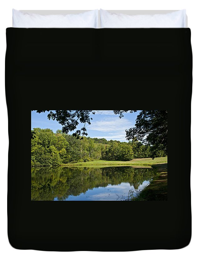 Fishing Duvet Cover featuring the photograph Secret Fishing Hole by Frank Morales Jr