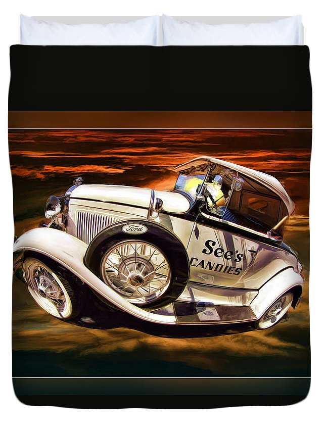 See's Car Duvet Cover featuring the photograph See's Car by Blake Richards