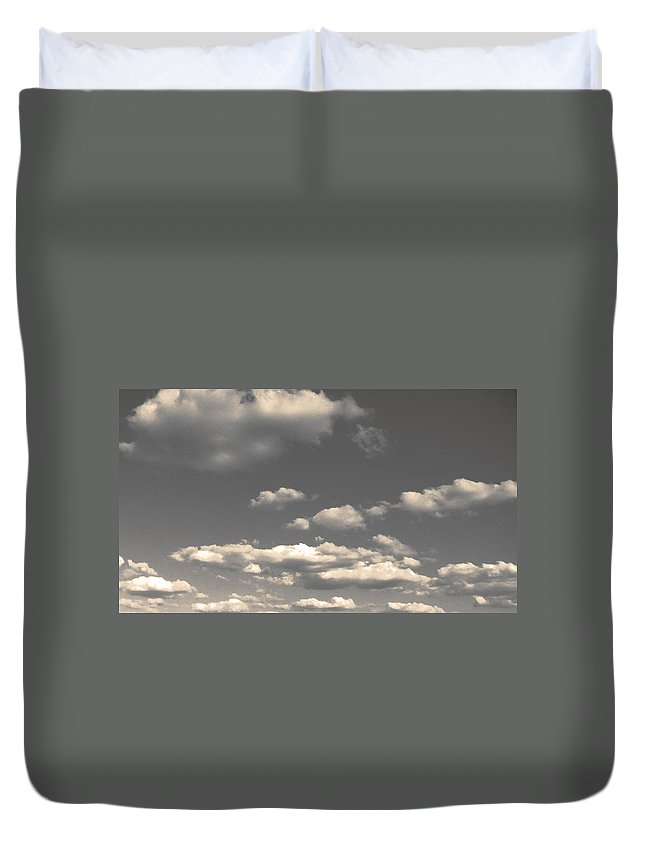 Clouds Duvet Cover featuring the photograph Selenium Clouds by Julie Niemela