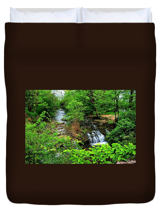 Duvet Cover featuring the photograph Serenity by Michael Frank Jr
