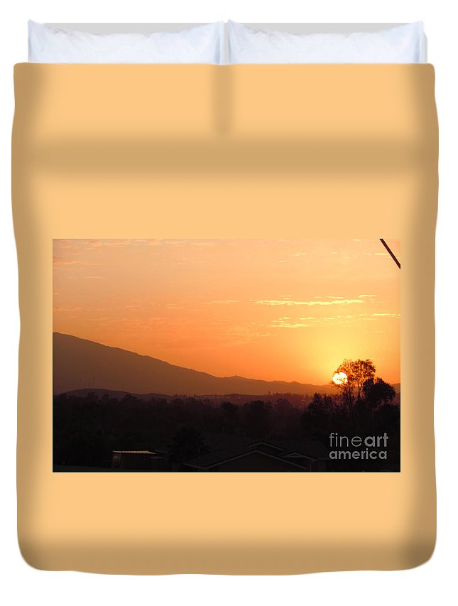 Sun Duvet Cover featuring the photograph Serenity On Fire by Customikes Fun Photography and Film Aka K Mikael Wallin