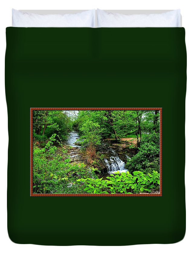 Duvet Cover featuring the photograph Serenity With Frame by Michael Frank Jr