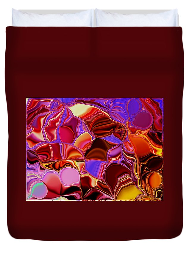 Colors Duvet Cover featuring the painting Shades Of Satin by Renate Nadi Wesley