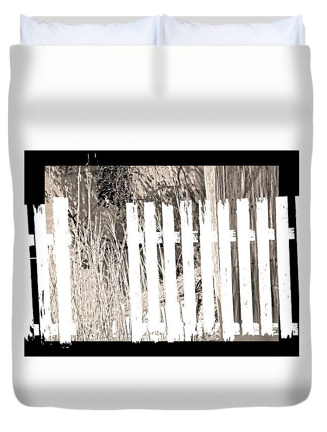Abstract Duvet Cover featuring the photograph Shadows On The American Dream by Lenore Senior
