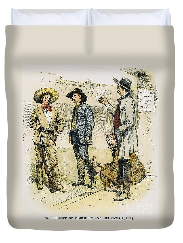 19th Century Duvet Cover featuring the photograph Sheriff John Behan, C1880s by Granger