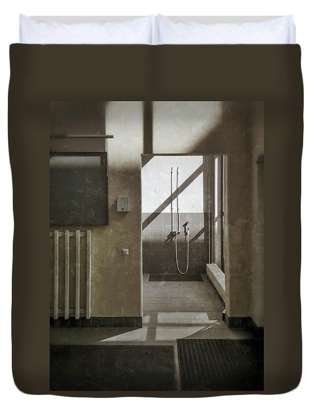 Shower Duvet Cover featuring the photograph Shower Spot by Ari Salmela
