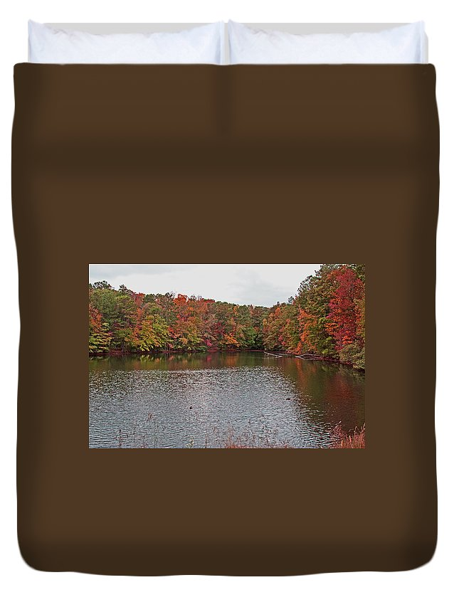 Water Duvet Cover featuring the photograph Sibley Pond by David Campbell