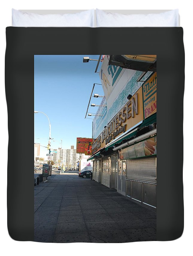 Brooklyn Duvet Cover featuring the photograph Sidewalks Of Gum by Rob Hans