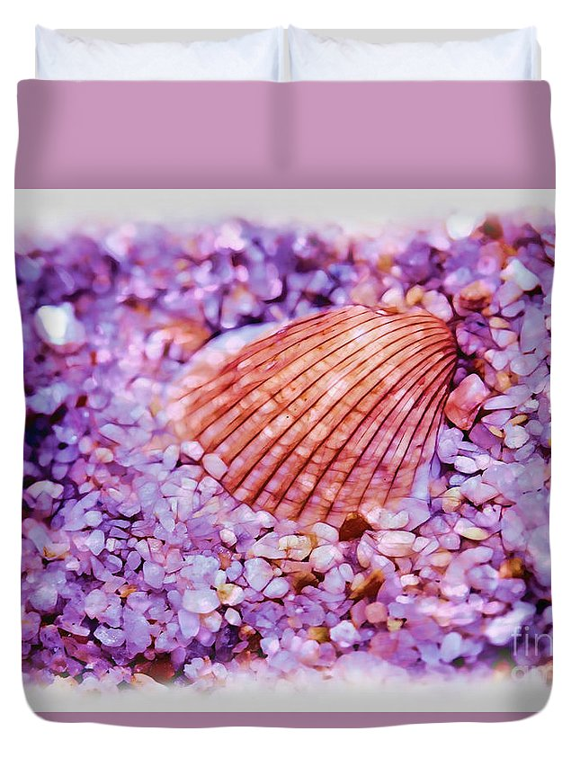 Cockle Duvet Cover featuring the photograph Silver Bells And Cockle Shells . . . by Judi Bagwell