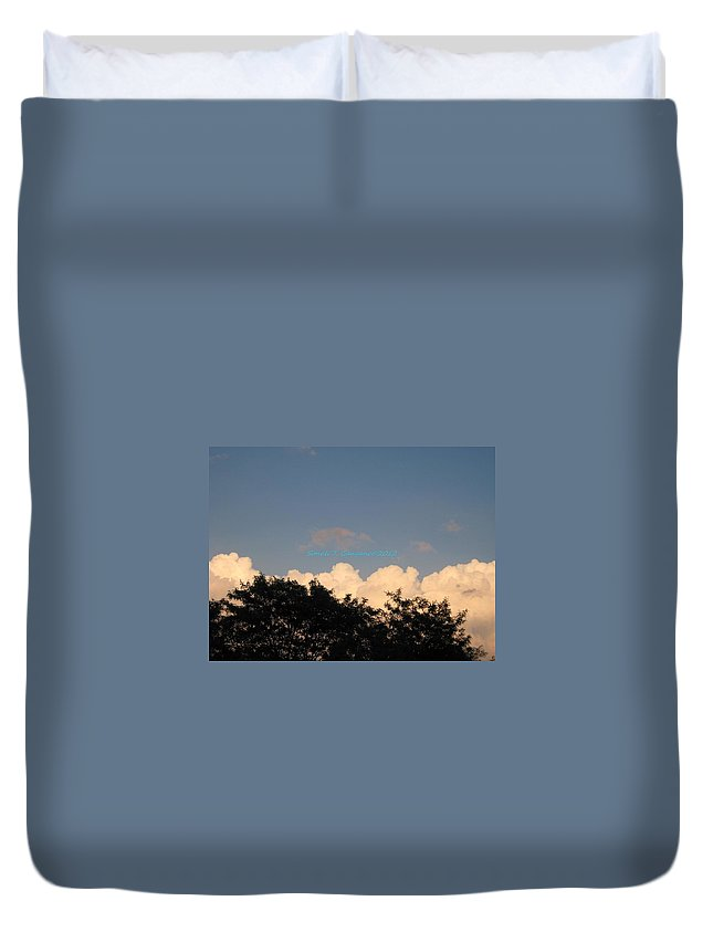 Silver Clouds Duvet Cover featuring the photograph Silver Layer by Sonali Gangane