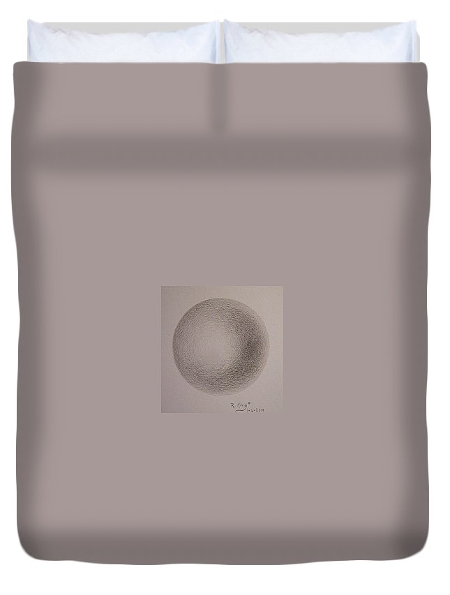 Roena King Duvet Cover featuring the drawing Simply A Ball by Roena King
