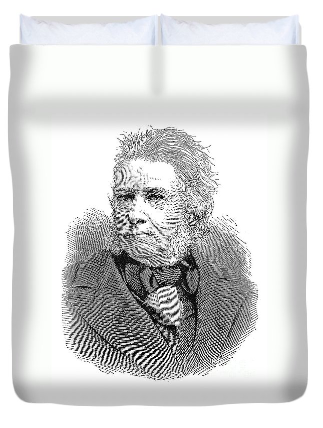 19th Century Duvet Cover featuring the photograph Sir Charles E. Trevelyan by Granger