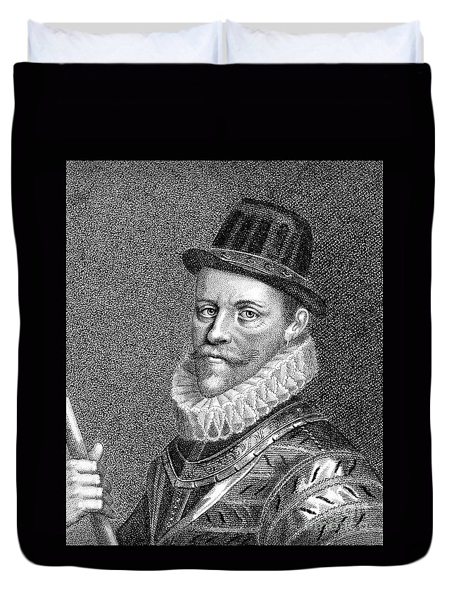 16th Century Duvet Cover featuring the photograph Sir John Hawkins (1532-1595) by Granger