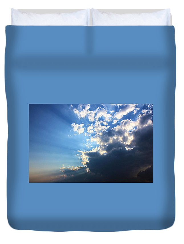 Sky Duvet Cover featuring the photograph Sky Drama by Kristin Elmquist