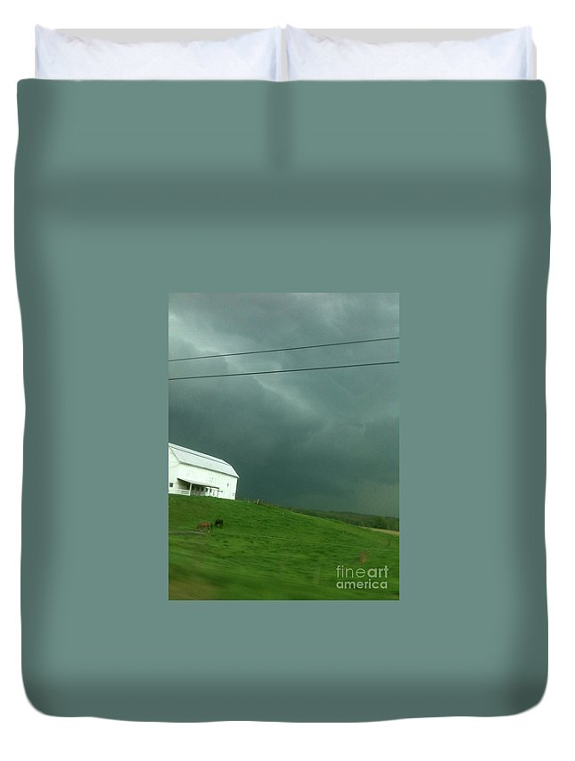 Sky Duvet Cover featuring the photograph Sky Happens by Trish Hale