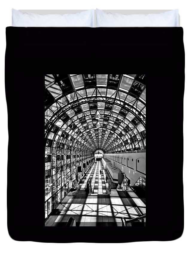 Toronto Skywalk Duvet Cover featuring the photograph Skywalk by Andrew Fare