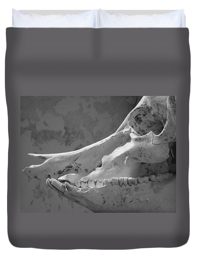 Slackjaw Duvet Cover featuring the photograph Slackjaw by Skip Hunt