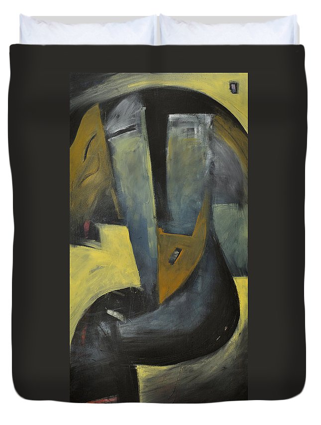 Sailor Duvet Cover featuring the painting Slicker by Tim Nyberg