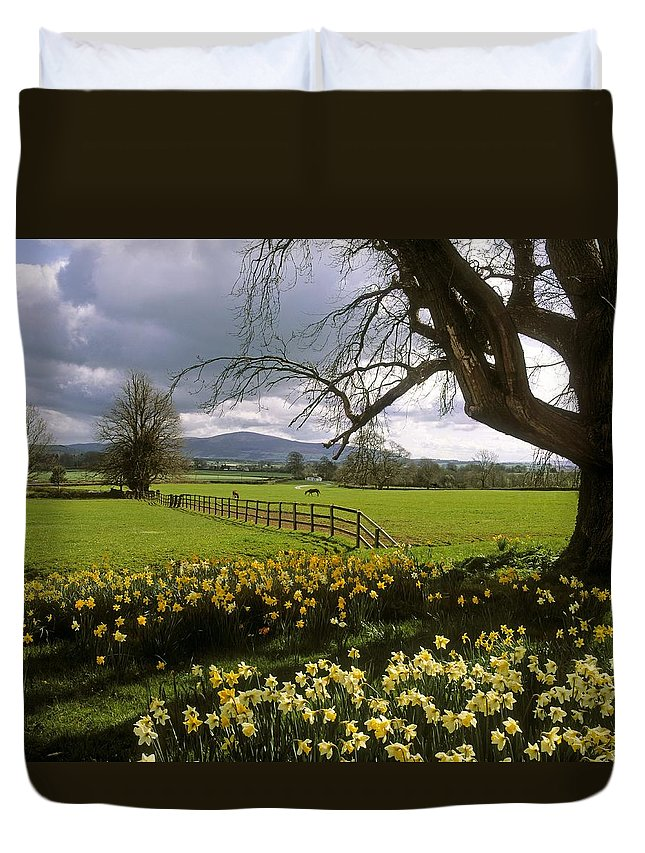 Ardsallagh Duvet Cover featuring the photograph Slievenamon, Ardsallagh, Co Tipperary by The Irish Image Collection