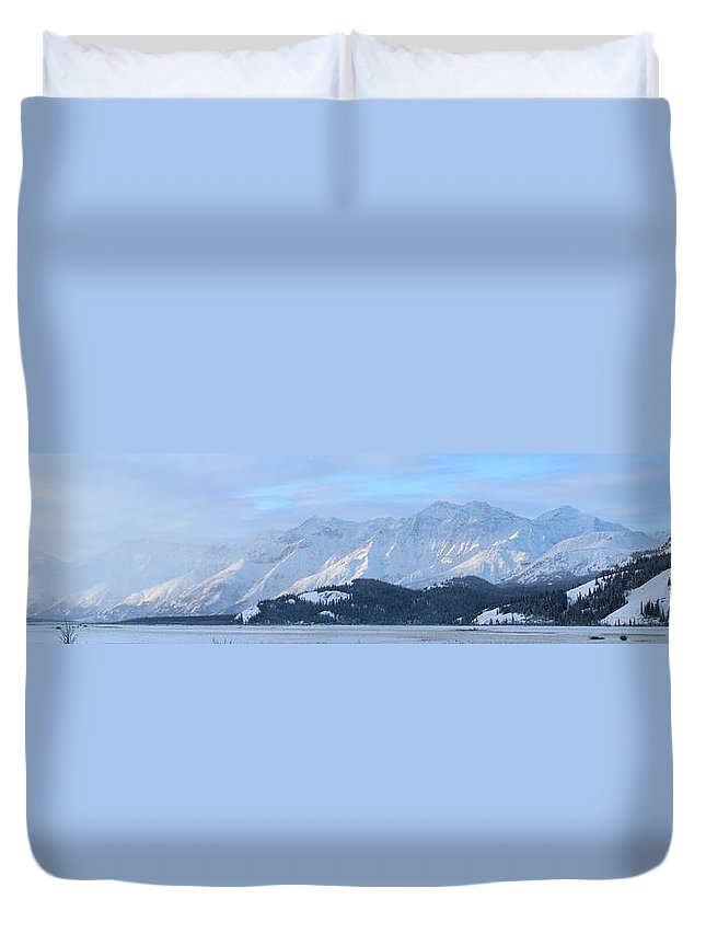 Light Duvet Cover featuring the photograph Slims River Valley, Kluane National by Robert Postma
