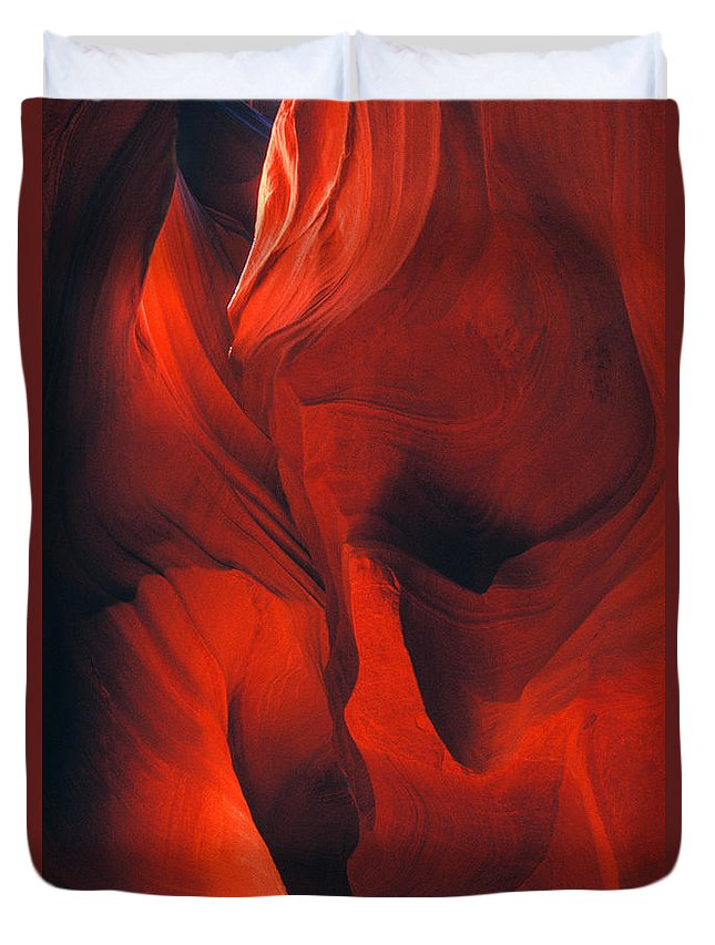 Slots Duvet Cover featuring the photograph Slot Canyon Abstract by Paul W Faust - Impressions of Light