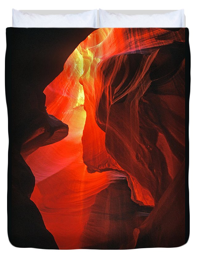 Slots Duvet Cover featuring the photograph Slot Canyons - 502 by Paul W Faust - Impressions of Light