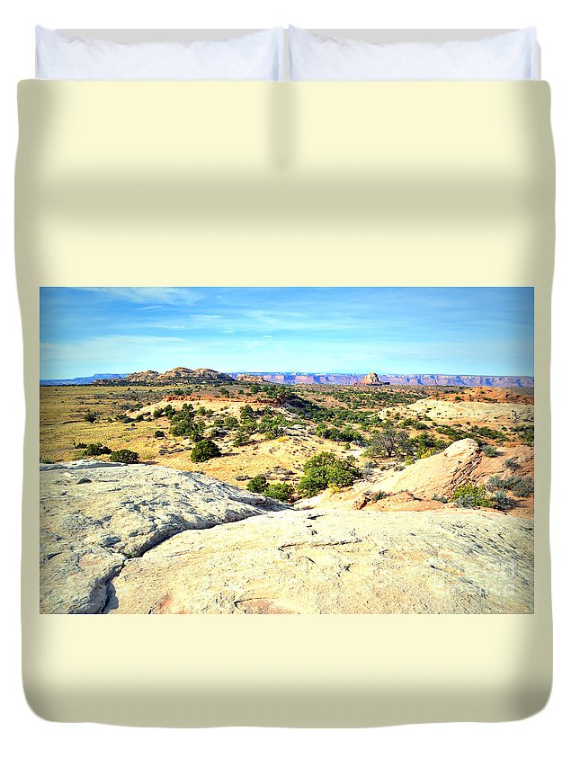 Canyon Duvet Cover featuring the photograph Small Distances by Tara Turner