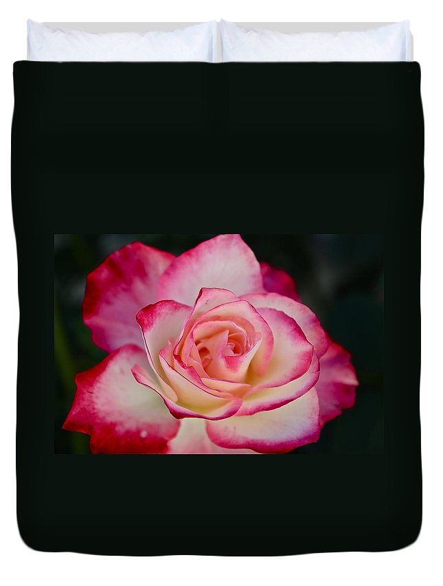 Flowers Duvet Cover featuring the photograph Smell The Roses by Diana Hatcher