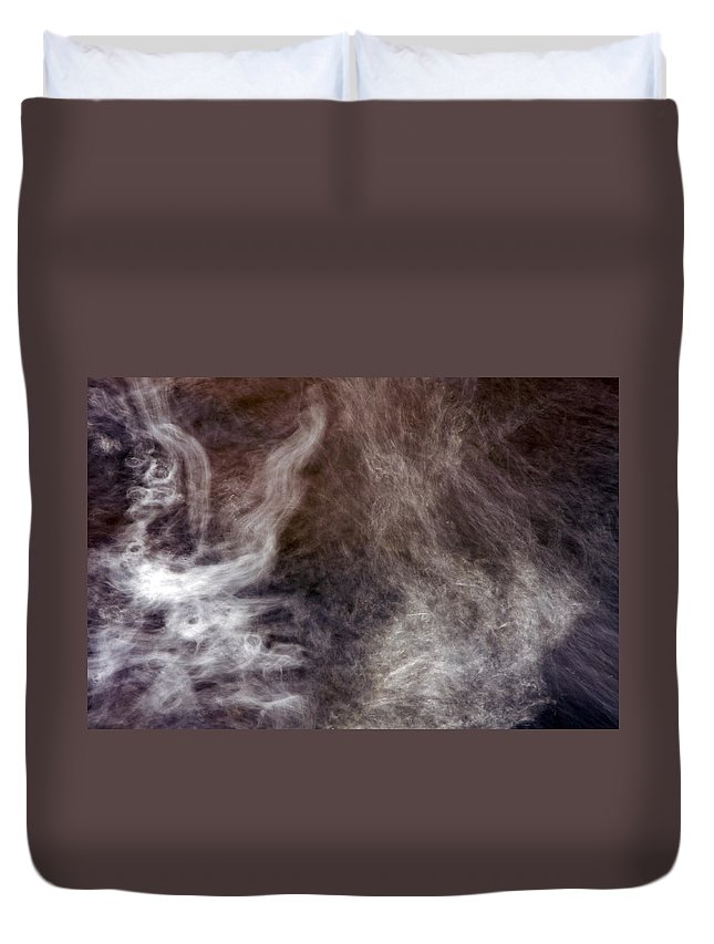 Water Duvet Cover featuring the photograph Smoking Water by Glenn Gordon