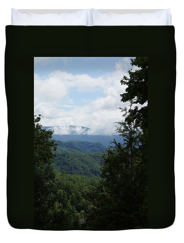 Mountains Duvet Cover featuring the photograph Smoky Mountain View by Megan Cohen