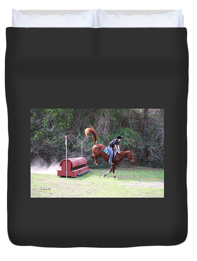 Roena King Duvet Cover featuring the photograph Smooth Landing by Roena King