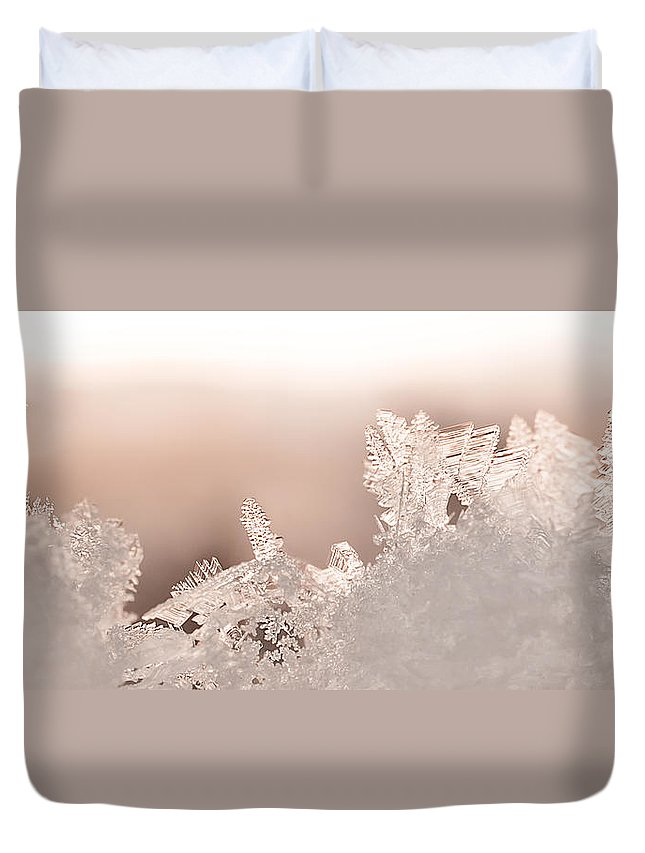 Snowflakes Duvet Cover featuring the photograph Snowland by Beth Riser