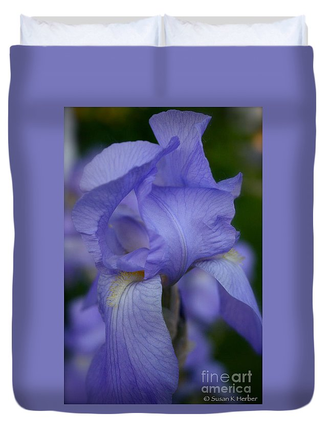 Outdoors Duvet Cover featuring the photograph Soft Petals by Susan Herber