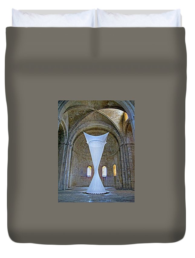 Monastery Duvet Cover featuring the photograph Soft Sculpture In A Monastery by Dave Mills
