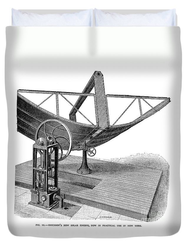1884 Duvet Cover featuring the photograph Solar Engine, 1884 by Granger