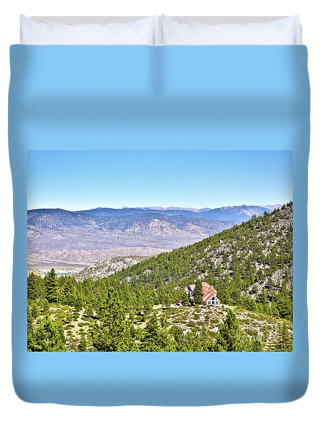 Desert Duvet Cover featuring the photograph Solitude With A View - Carson City Nevada by John Waclo