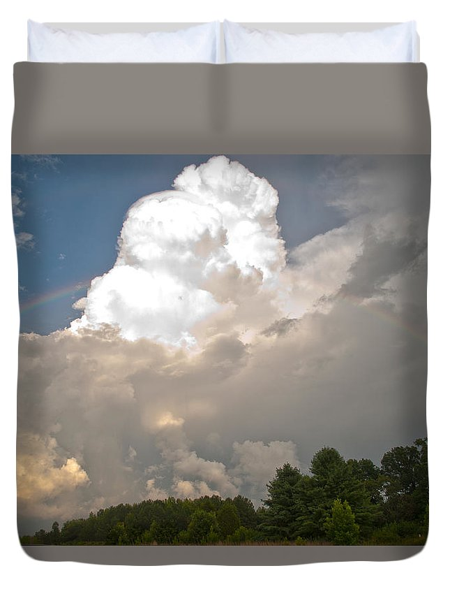 Wright Duvet Cover featuring the photograph Somewhere... by Paulette B Wright
