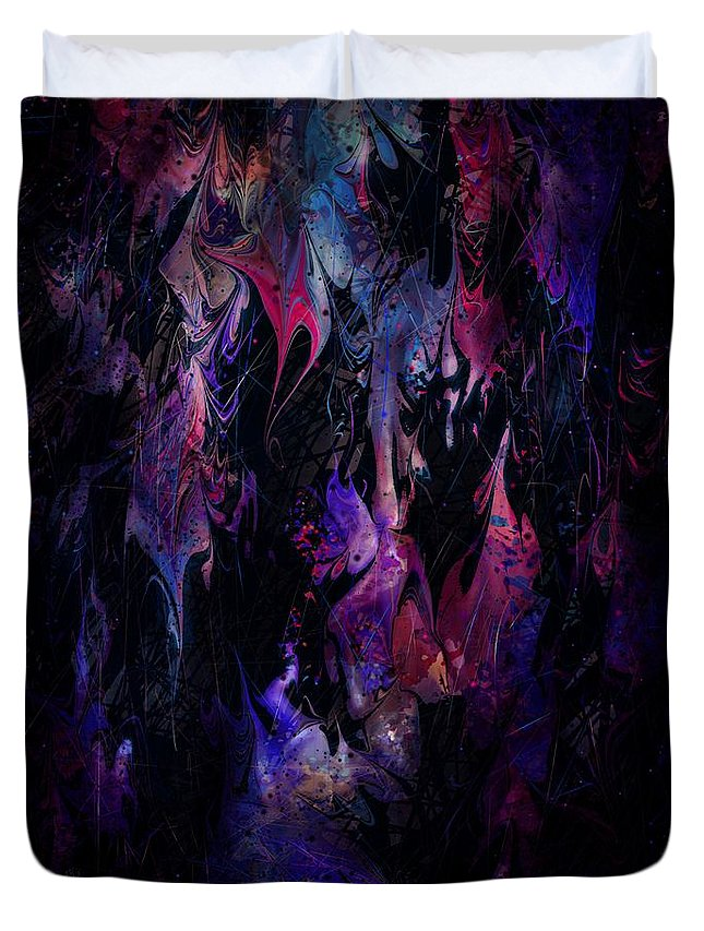 Wounds Duvet Cover featuring the digital art Sounds Of A Tear by Rachel Christine Nowicki
