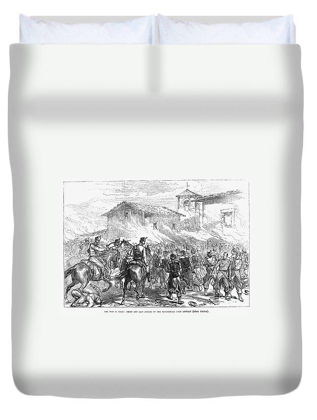 1874 Duvet Cover featuring the photograph Spain: Second Carlist War by Granger